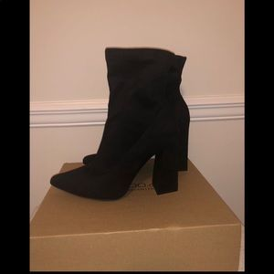 Flared Suede Sock Boots
